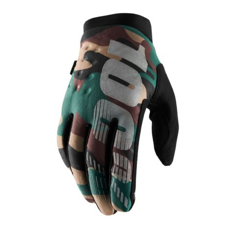 BRISKER 100% Glove Camo/Black Youth